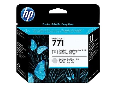 HP 771 DesignJet CE020A Printhead, Photo Black/Light Gray