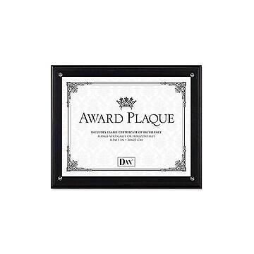 DAX Award Plaque Wood Certificate Frame, Black (N15908NT)