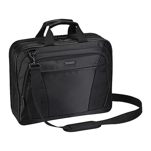 Targus CityLite Laptop Briefcase, Black Polyester (TBT053US)
