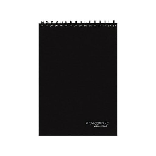 "Cambridge Limited Notepad, 8.5"" x 11"", Wide Ruled, Black, 96 Sheets/Pad (06090)"