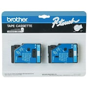 """Brother TC22 Label Maker Tapes, 0.47""""W, Blue On White, 2/Pack"""