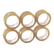 """Staples Standard Packing Tape, 1.89"""" x 54.7 Yds., Clear, 6/Pack (11105-CC)"""