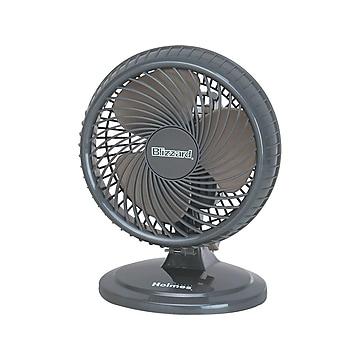 "Holmes Lil Blizzard 12""H 2 Speed Oscillating Portable Fan, Black (HAOF87BLZ-UC)"
