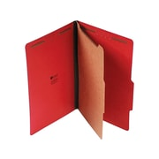 "Universal Pressboard Classification Folders, 2/5-Cut Tab, 2"" Expansion, Legal Size, Ruby Red, 10/Box (UNV10213)"