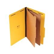 "Universal Pressboard Classification Folders, 2/5-Cut Tab, 2"" Expansion, Legal Size, Yellow, 10/Box (UNV10314)"