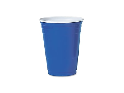 Solo Cold Cups, 16 Oz., Blue, 50/Pack