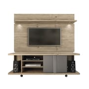 Manhattan Comfort  Carnegie and Park 1.8 MDF TV Stand and TV Panel in Natue and Onyx (2-1456881461)