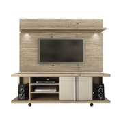 Manhattan Comfort  Carnegie and Park 1.8 MDF TV Stand and TV Panel  in Nature and Nude (2-1455581461)
