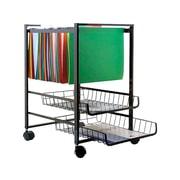 Advantus 2-Shelf Steel File Cart, Black (34075)