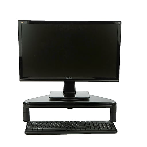 Mind Reader Rotative Corner Adjustable Monitor Risers Monitor Stand Desk Organizer Spinning Monitor Black Trimos Blk