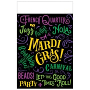 """Amscan Mardi Gras Good Times Plastic Table Cover, 54"""" x 84"""", 2 Pack (572220)"""