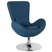 Blue Fabric Egg Series Reception-Lounge-Side Chair (CH-162430-BL-FAB-GG)