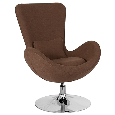 Brown Fabric Egg Series Reception-Lounge-Side Chair (CH-162430-BN-FAB-GG)