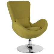 Green Fabric Egg Series Reception-Lounge-Side Chair (CH-162430-GN-FAB-GG)