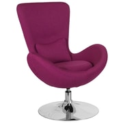 Magenta Fabric Egg Series Reception-Lounge-Side Chair (CH-162430-MAG-FAB-GG)