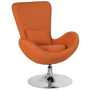 Orange Fabric Egg Series Reception-Lounge-Side Chair (CH-162430-OR-FAB-GG)