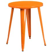 24'' Round Orange Metal Indoor-Outdoor Table (CH-51080-29-OR-GG)
