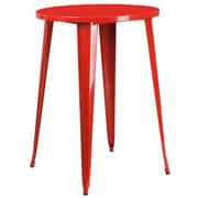 30'' Round Red Metal Indoor-Outdoor Bar Height Table (CH-51090-40-RED-GG)