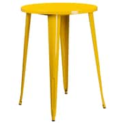 30'' Round Yellow Metal Indoor-Outdoor Bar Height Table (CH-51090-40-YL-GG)