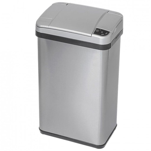 iTouchless Multifunction Stainless Steel Sensor Trash Can, Gray, 4 gal. (MT04SS)