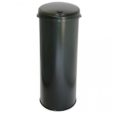 iTouchless® 13 gal. Steel Sensor Trash Can with Deodorizer Black (MT13RB)