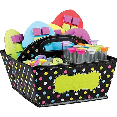 Teacher Created Resources Chalkboard Brights Storage Caddy,