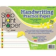 "Eureka Stop Light Practice Paper, 8 1/2"" x 11, 100 Sheets Per Pack, 3 Packs (EU-805107)"