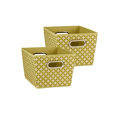 Household Essentials Small Tapered Bins, Olive, 2 Piece Set