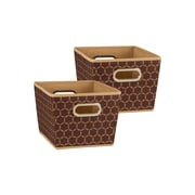 Household Essentials Small Tapered Bins,Brown, 2 Piece Set
