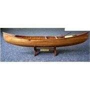 Old Modern Handicrafts Indian Girl Canoe Model Boat (Omhc001)