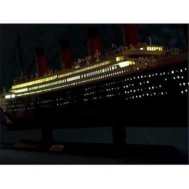 Handcrafted Model Ships Rms Britannic Limited 40 In. With Led Lights Decorative Cruise Ship (Hdfm1989)