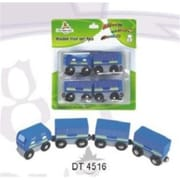 Chh 4 Pieces Blue Wooden Train In Blister Pkg (Chhg051)