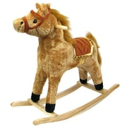 Plush Walking Horse With Wheels And Foot Rest (Poker11703)