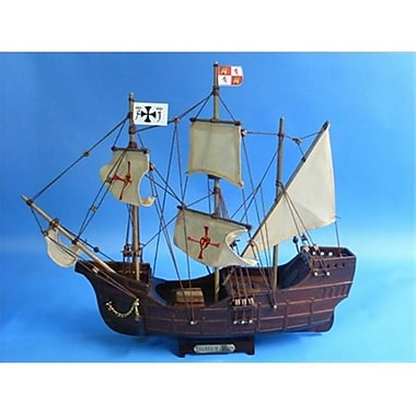 Handcrafted Model Ships Santa Maria 14 In. Decorative Tall Model Ship (Hdfm1167)