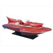 Handcrafted Model Ships Ferrari Hydroplane Limited 32 In. Decorative Speed Boat (Hdfm2215)
