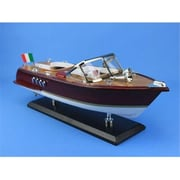 Handcrafted Model Ships Riva Aquarama 14 In. Decorative Speed Boat (Hdfm1469)
