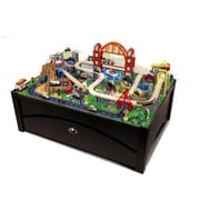 Kid Kraft Metropolis Train Table And Set (Kk584)