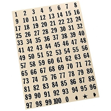 Hy-Ko .75 In. Black Consecutive 1-100 Numbers - Pack Of 10 (Jnsn58664)