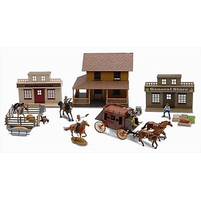 New Ray Deluxe Big Western Town Playset,