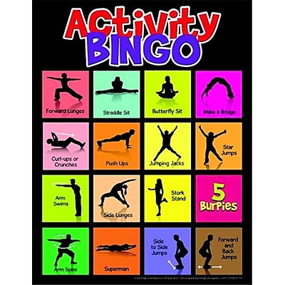 Learning Zonexpress Physical Activity Bingo Game - All Ages (Sspc65858) 2490465