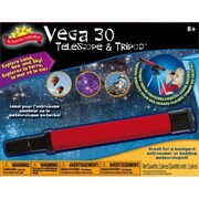 Poof-Slinky Scientific Explorer Vega 30 Telescope With 30X Magnification And Metal Tabletop Tripod (Poof292)