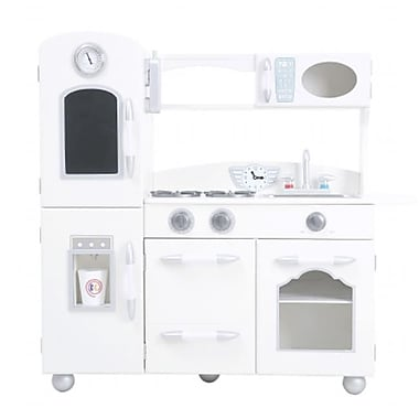 Teamson Design Wooden Cottage 1 Piece Kitchen Pretend Role Play Cooker Chef Toy, Lily White (Tmsn444)