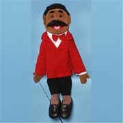 Sunny Toys 28 In. Ethnic Dad In Red Suit, Full Body Puppet (Snty222)