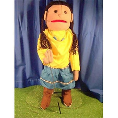 Sunny Toys 28 In. American Indian Girl , Full Body Puppet (Snty251)
