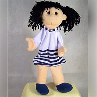Sunny Toys 12 In. Black Haired Girl,