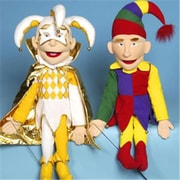 Sunny Toys 28 In. Jester In Multi Color, Sculpted Face Puppet (Snty178)