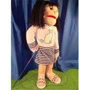 Sunny Toys 28 In. Black-Haired Girl Dress Cat, Full Body Puppet (Snty266)