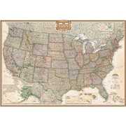 National Geographic United States Executive Map - Enlarged And Laminated (Ngs710)
