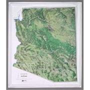 Hubbard Scientific Raised Relief Map Arizona Ncr Series Satellite Image (Amed1889)