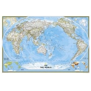 National Geographic World Classic - Pacific Centered - Enlarged And Laminated Map (Ngs706)